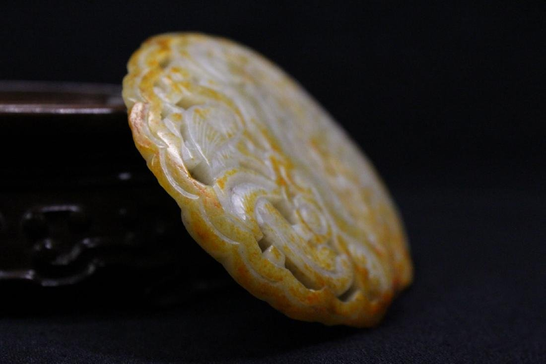 Chinese yellow jade carved ornament - 6