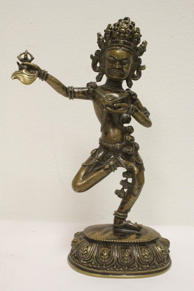 Tibetan bronze sculpture of deity