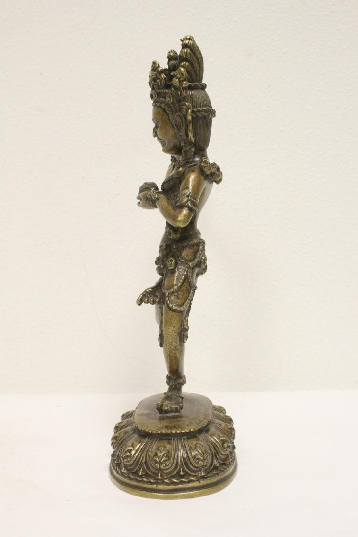 Tibetan bronze sculpture of deity - 2