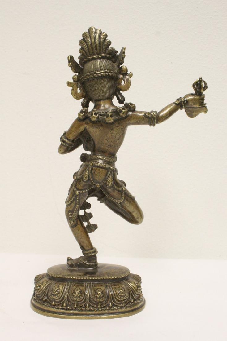 Tibetan bronze sculpture of deity - 3