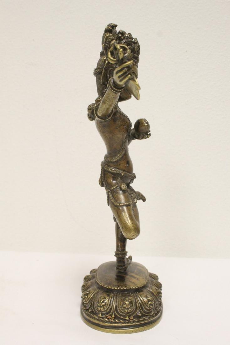 Tibetan bronze sculpture of deity - 4