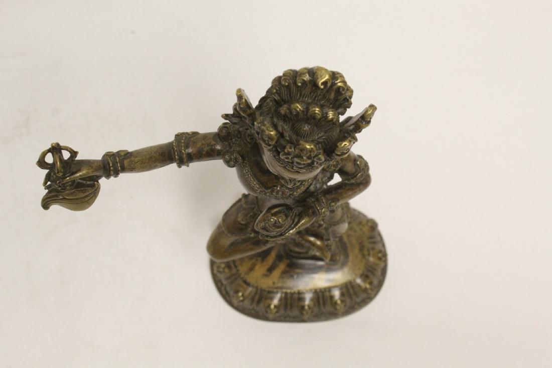 Tibetan bronze sculpture of deity - 5