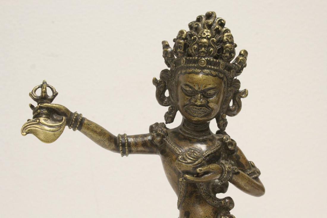 Tibetan bronze sculpture of deity - 6