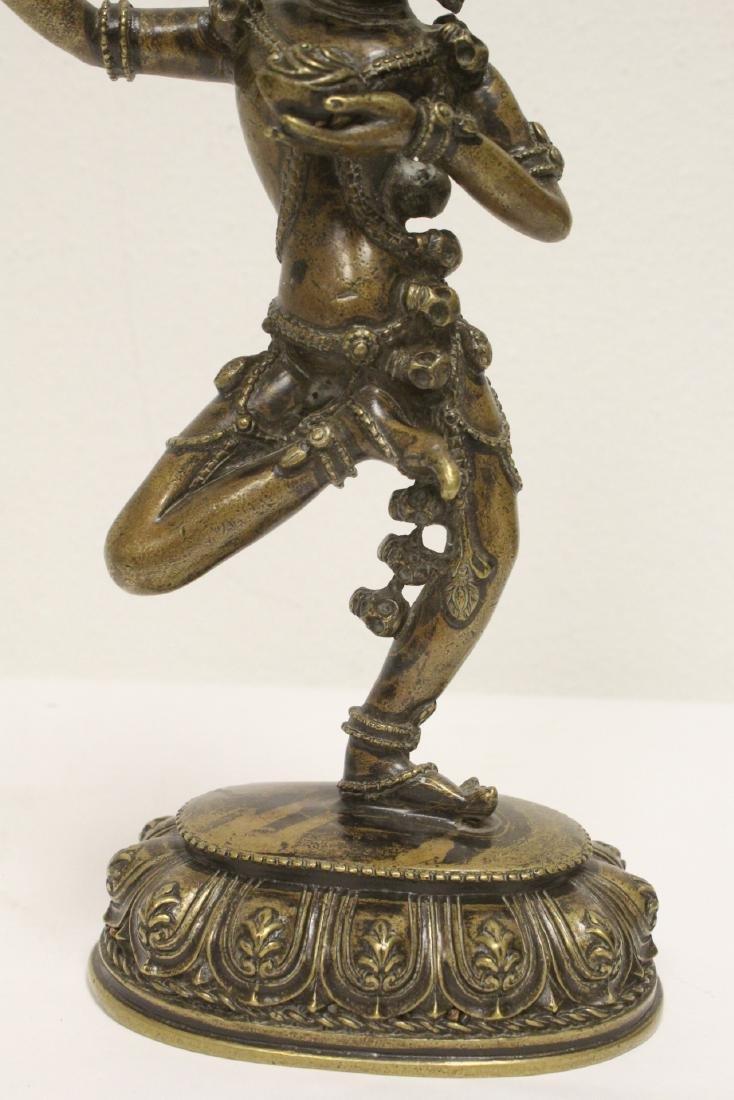 Tibetan bronze sculpture of deity - 7