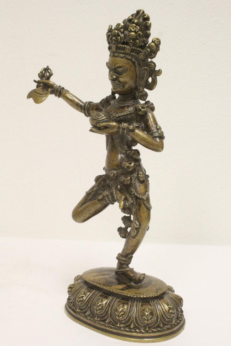 Tibetan bronze sculpture of deity - 8