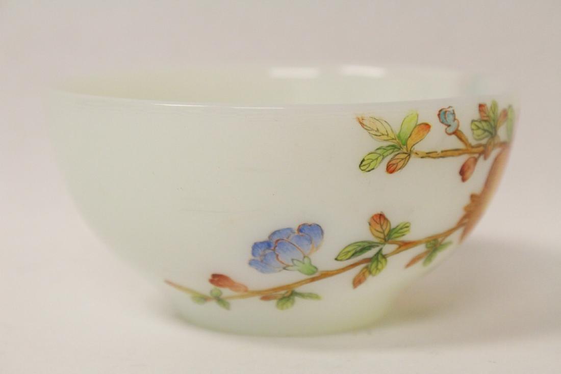 A fine Chinese enamel on Peking glass bowl - 4