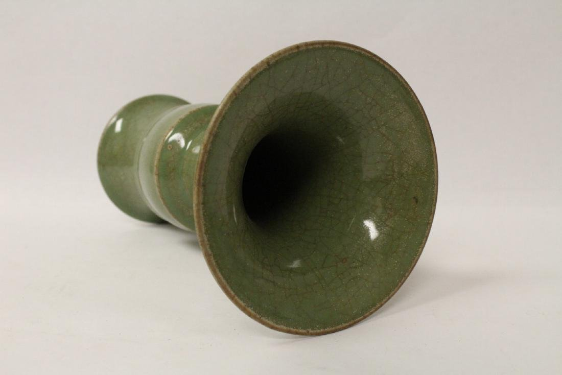 Chinese Song style green glaze vase - 10