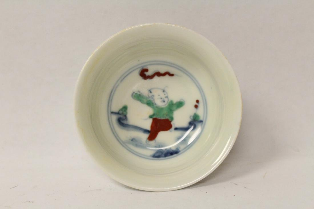 Chinese wucai tea bowl - 6