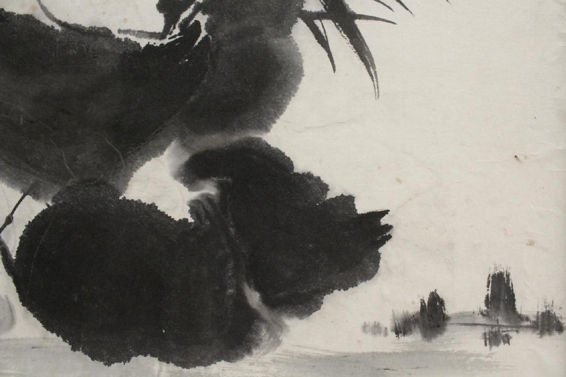 "Framed Chinese watercolor ""panda"" - 10"