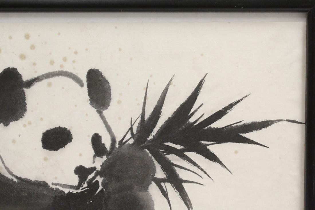 "Framed Chinese watercolor ""panda"" - 4"