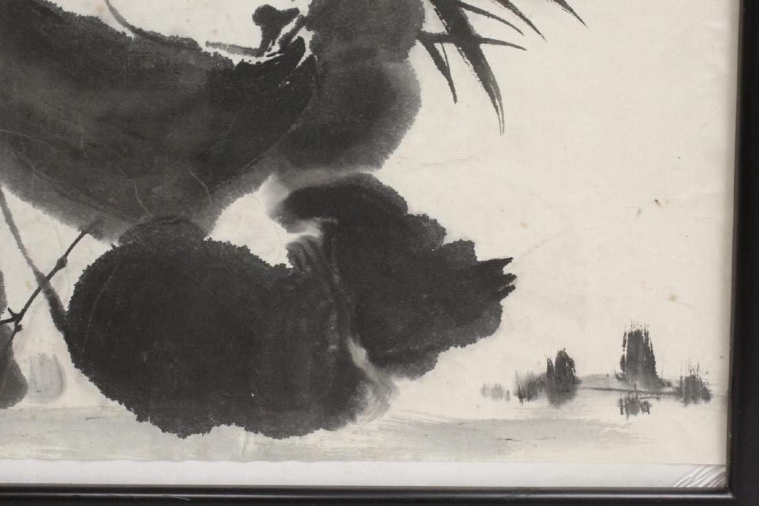 "Framed Chinese watercolor ""panda"" - 5"