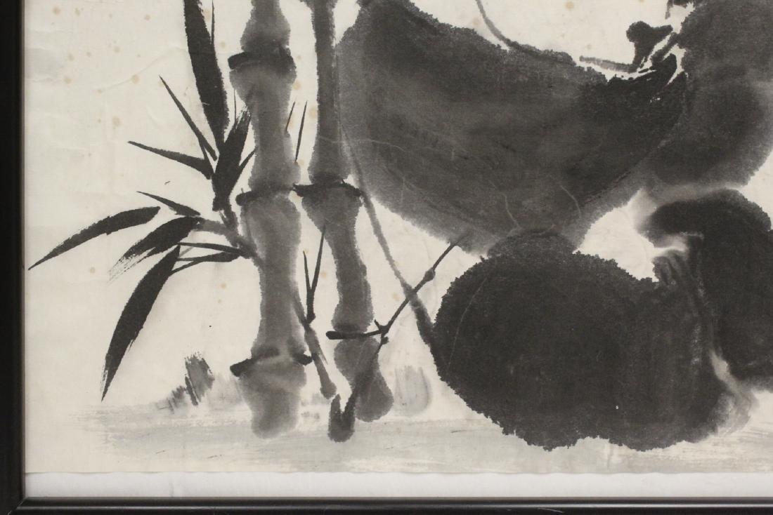 "Framed Chinese watercolor ""panda"" - 6"