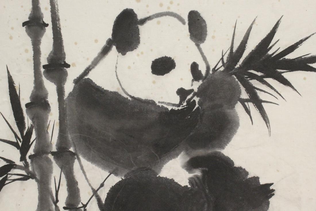 "Framed Chinese watercolor ""panda"" - 7"