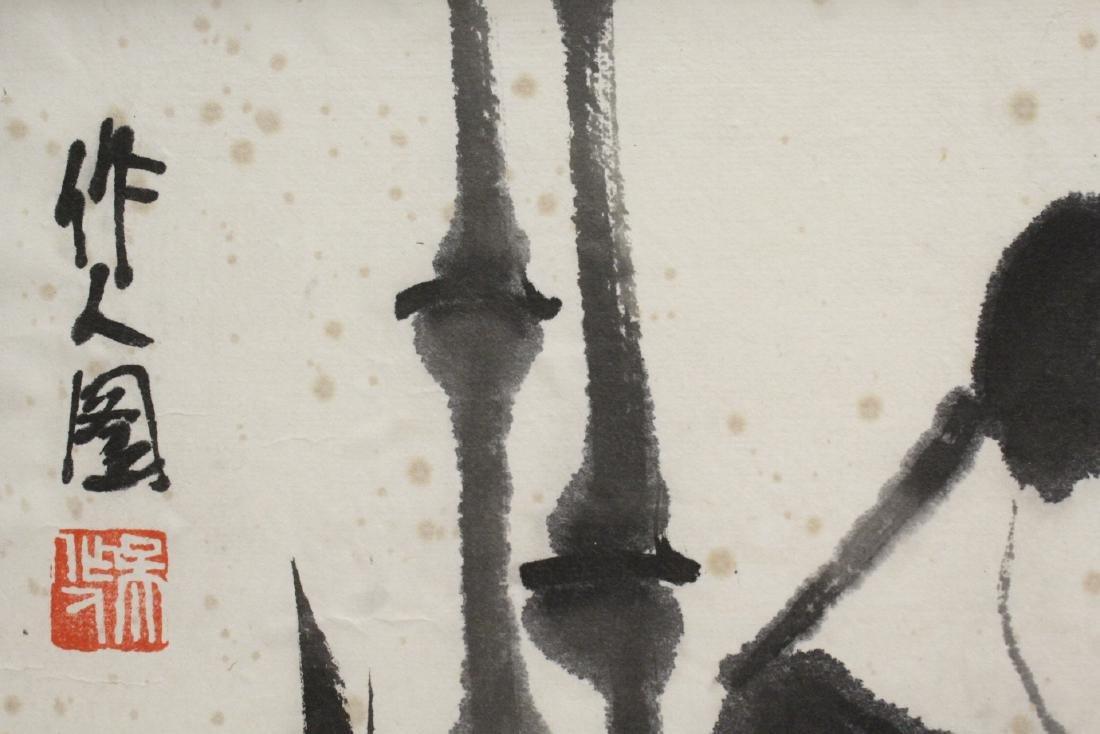 "Framed Chinese watercolor ""panda"" - 8"