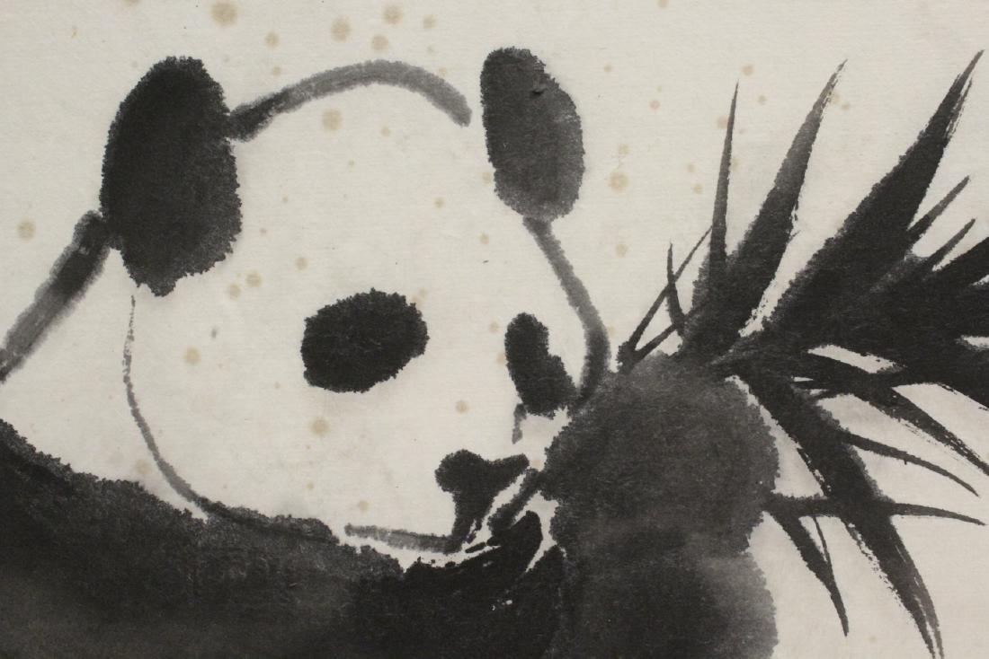 "Framed Chinese watercolor ""panda"" - 9"