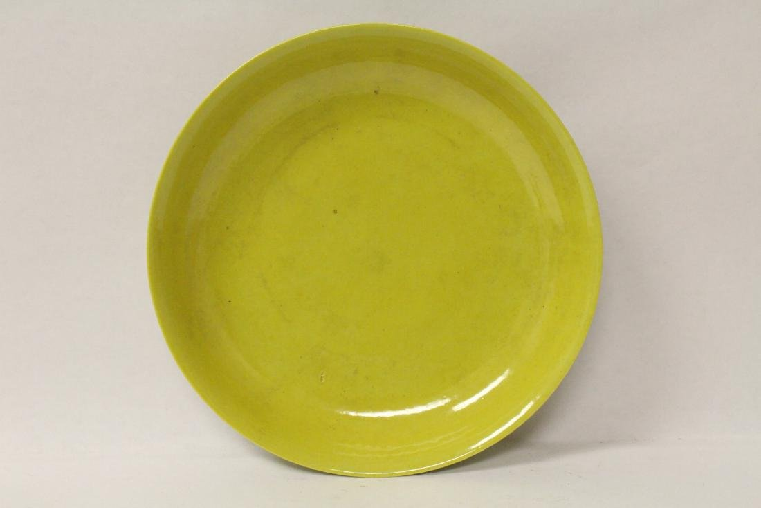 Chinese yellow glazed porcelain plate - 3
