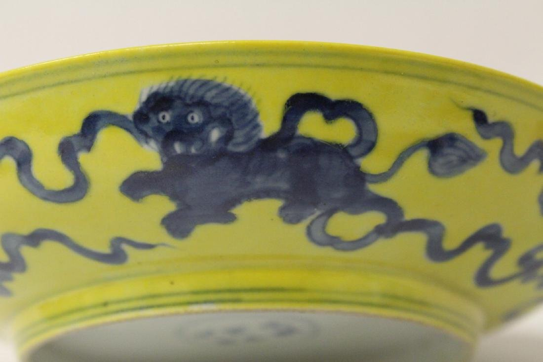 Chinese yellow glazed porcelain plate - 8