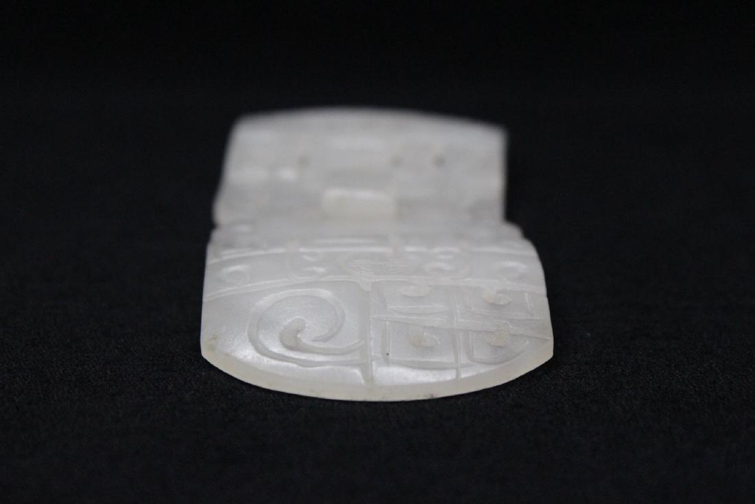White jade 2-piece belt buckle - 6