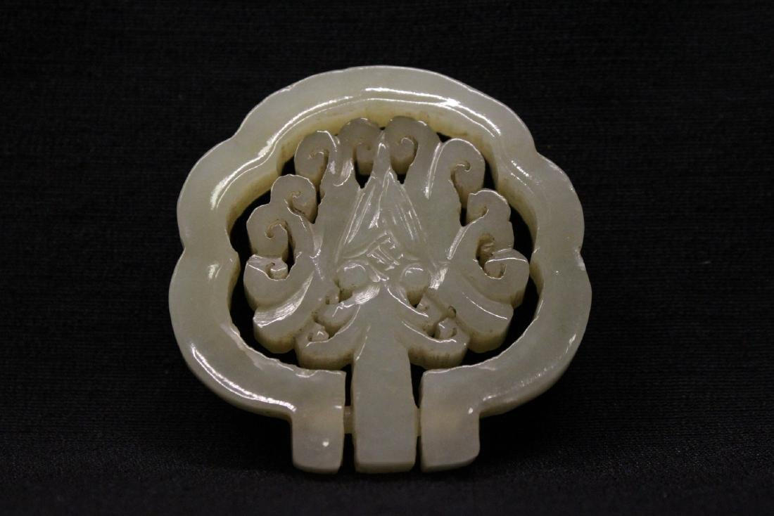 Celadon jade ornament