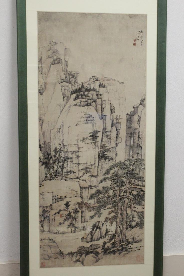 """Framed Chinese watercolor """"landscape"""""""