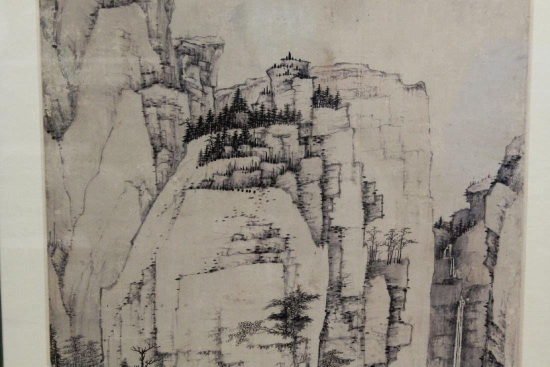 """Framed Chinese watercolor """"landscape"""" - 4"""
