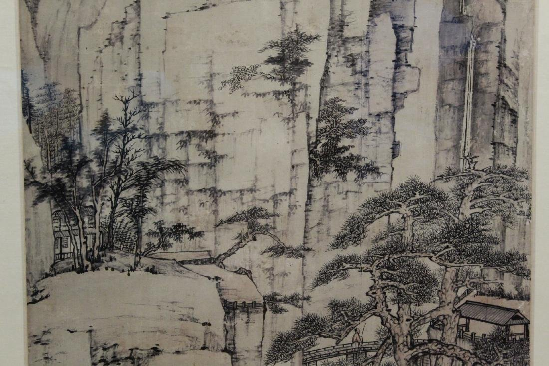 """Framed Chinese watercolor """"landscape"""" - 5"""