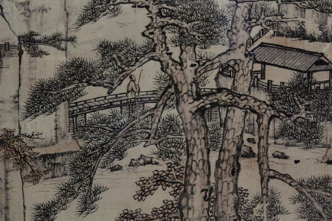 """Framed Chinese watercolor """"landscape"""" - 7"""