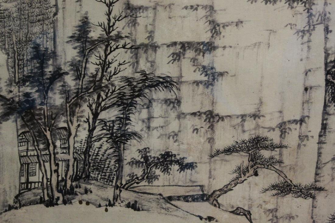 """Framed Chinese watercolor """"landscape"""" - 8"""