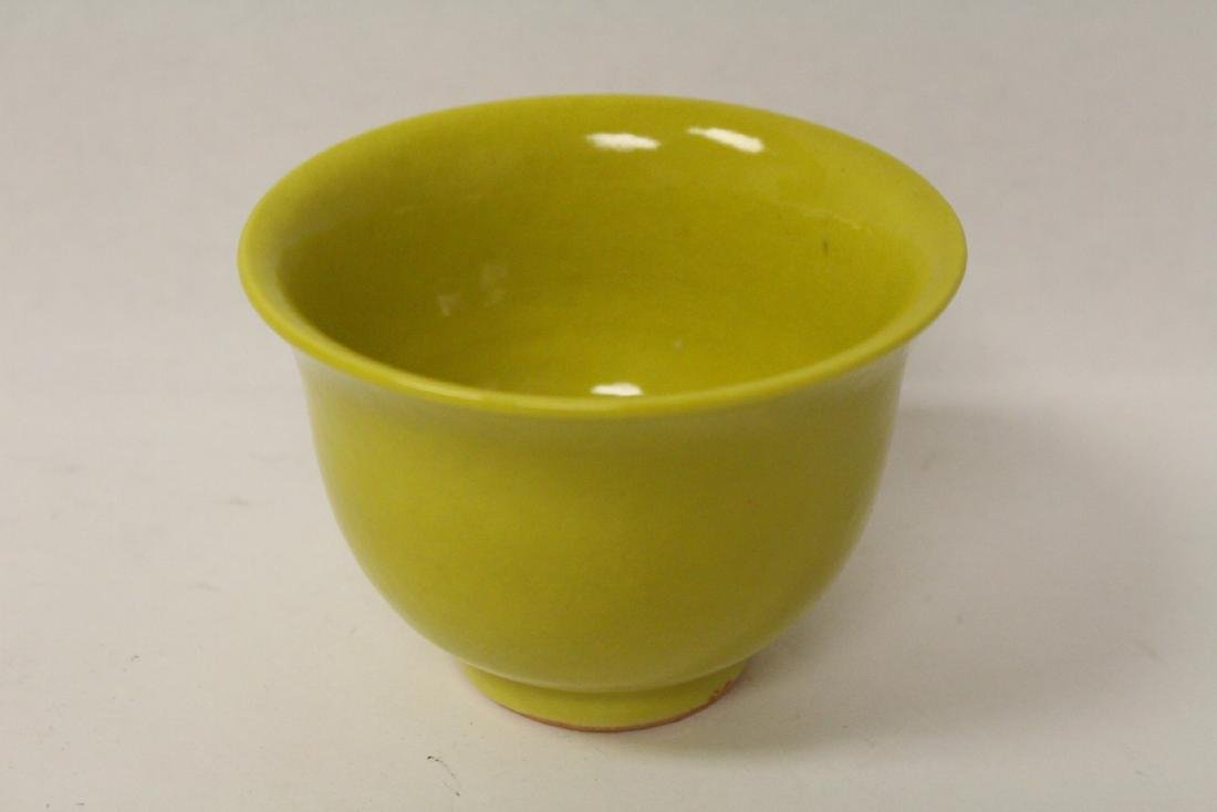 Chinese yellow glaze porcelain tea cup