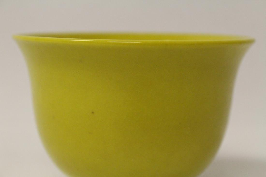 Chinese yellow glaze porcelain tea cup - 5