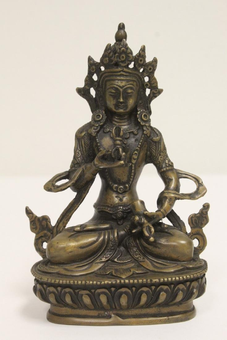 A vintage Tibetan bronze sculpture
