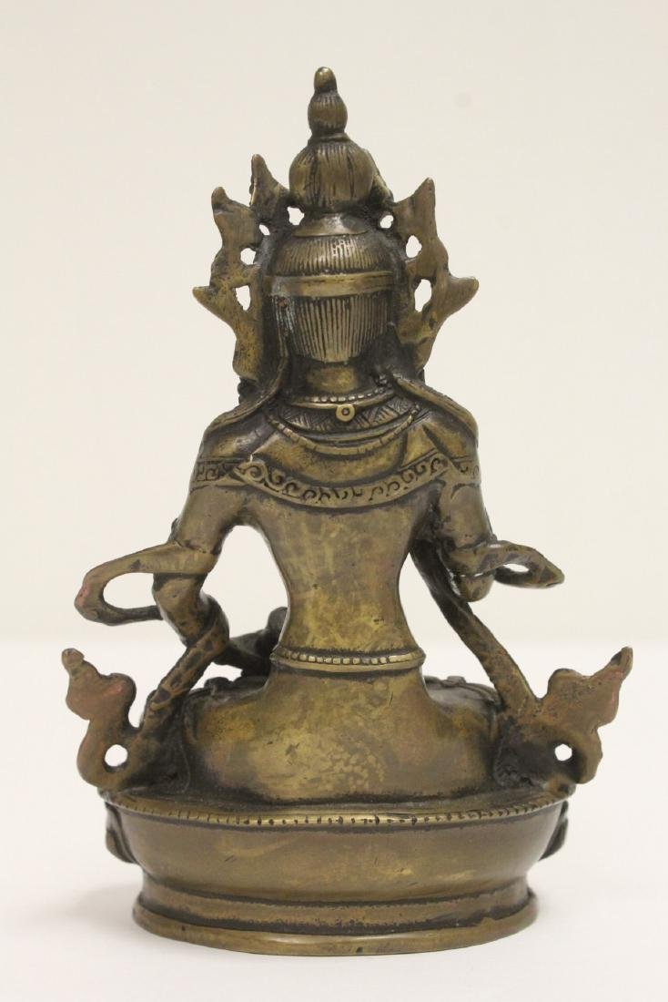 A vintage Tibetan bronze sculpture - 3