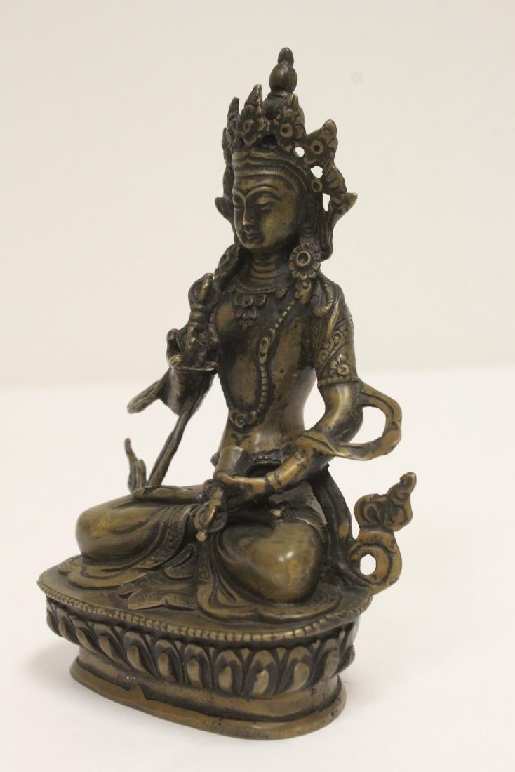 A vintage Tibetan bronze sculpture - 6