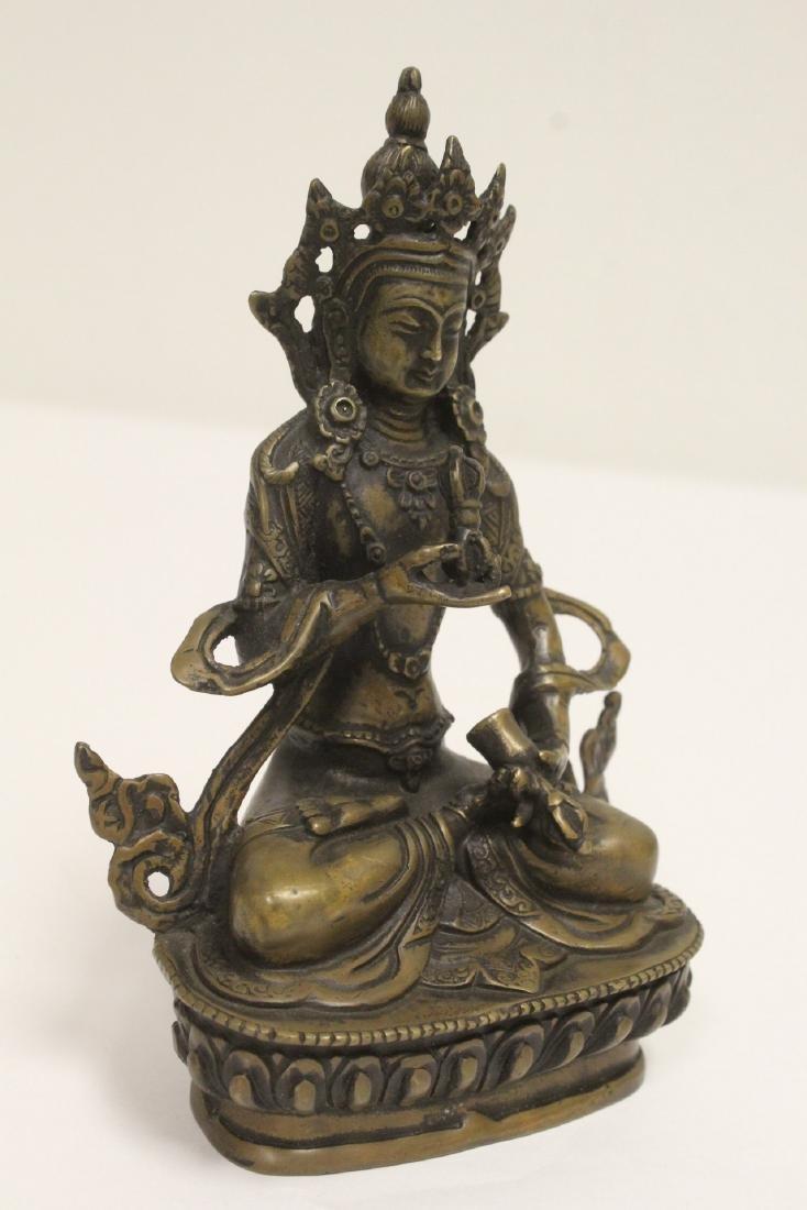 A vintage Tibetan bronze sculpture - 7