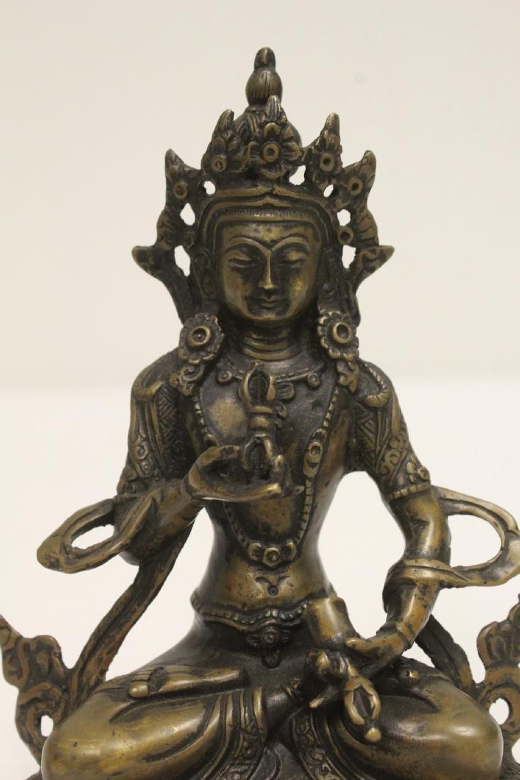 A vintage Tibetan bronze sculpture - 8