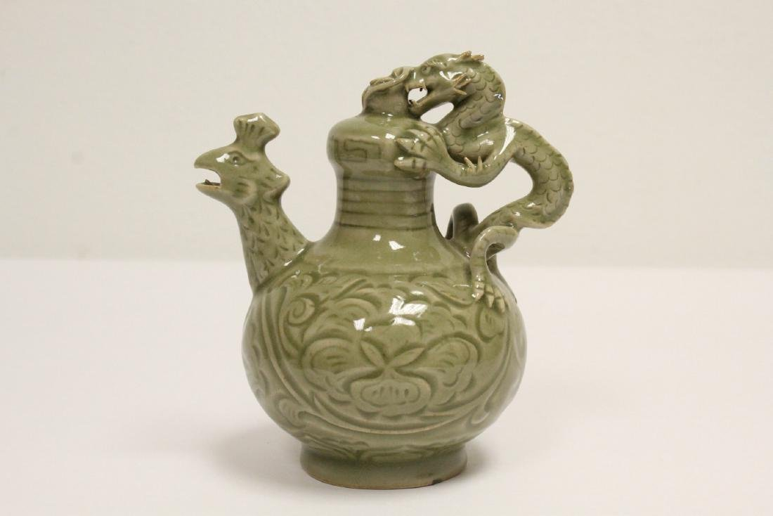 Unusual celadon wine server