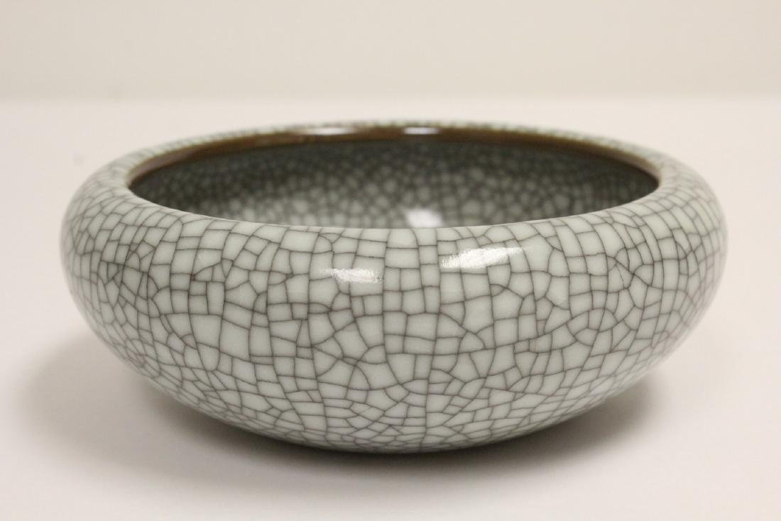 2 crackle porcelain pieces - 10