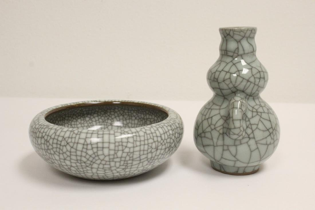 2 crackle porcelain pieces - 5