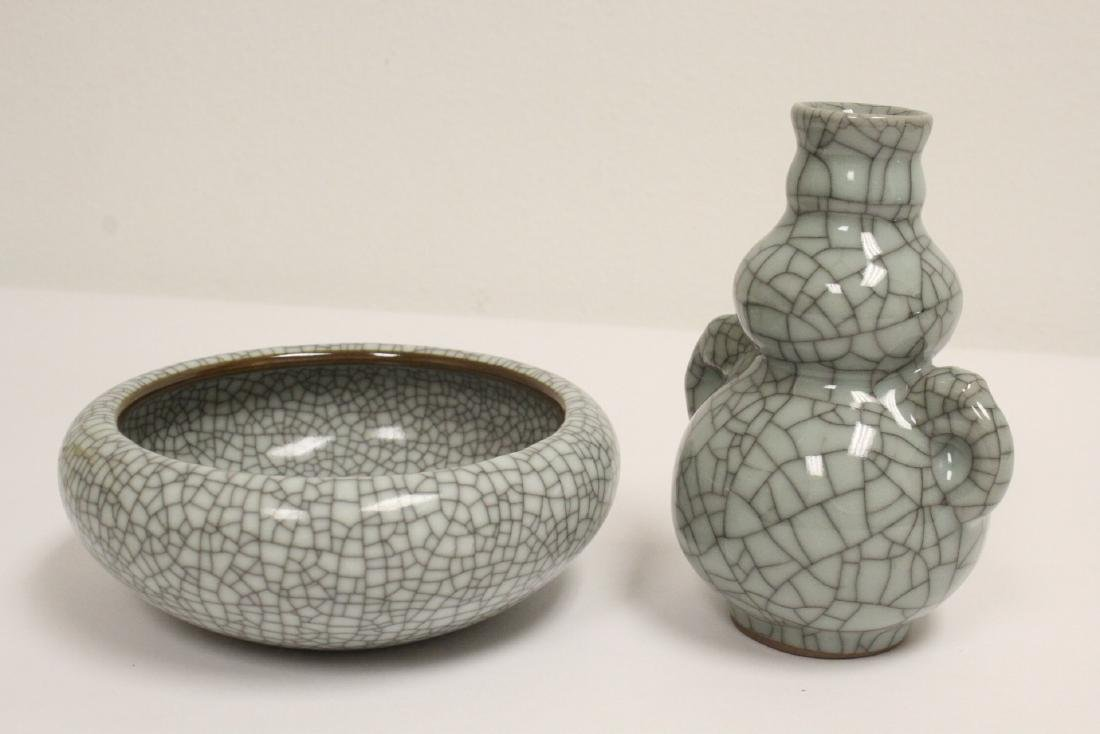 2 crackle porcelain pieces - 6