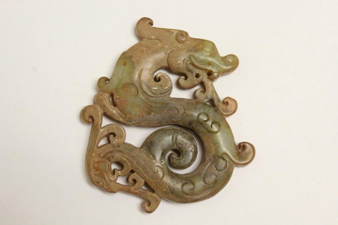 4 jade like stone carved ornaments - 10