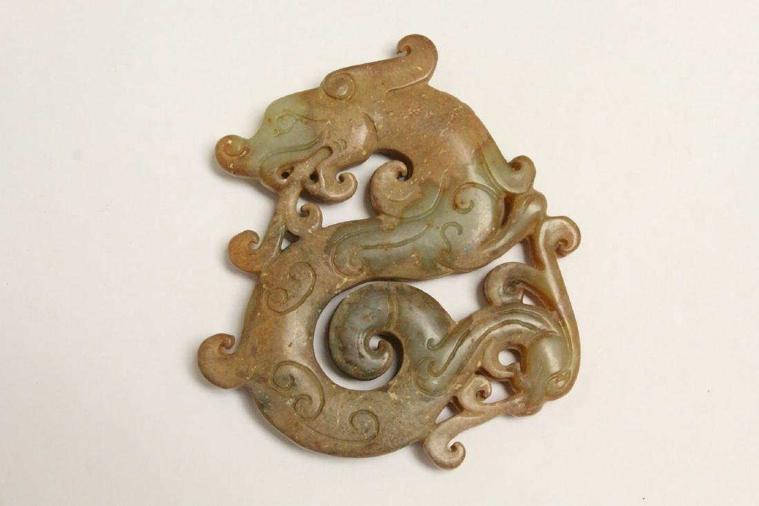4 jade like stone carved ornaments - 9