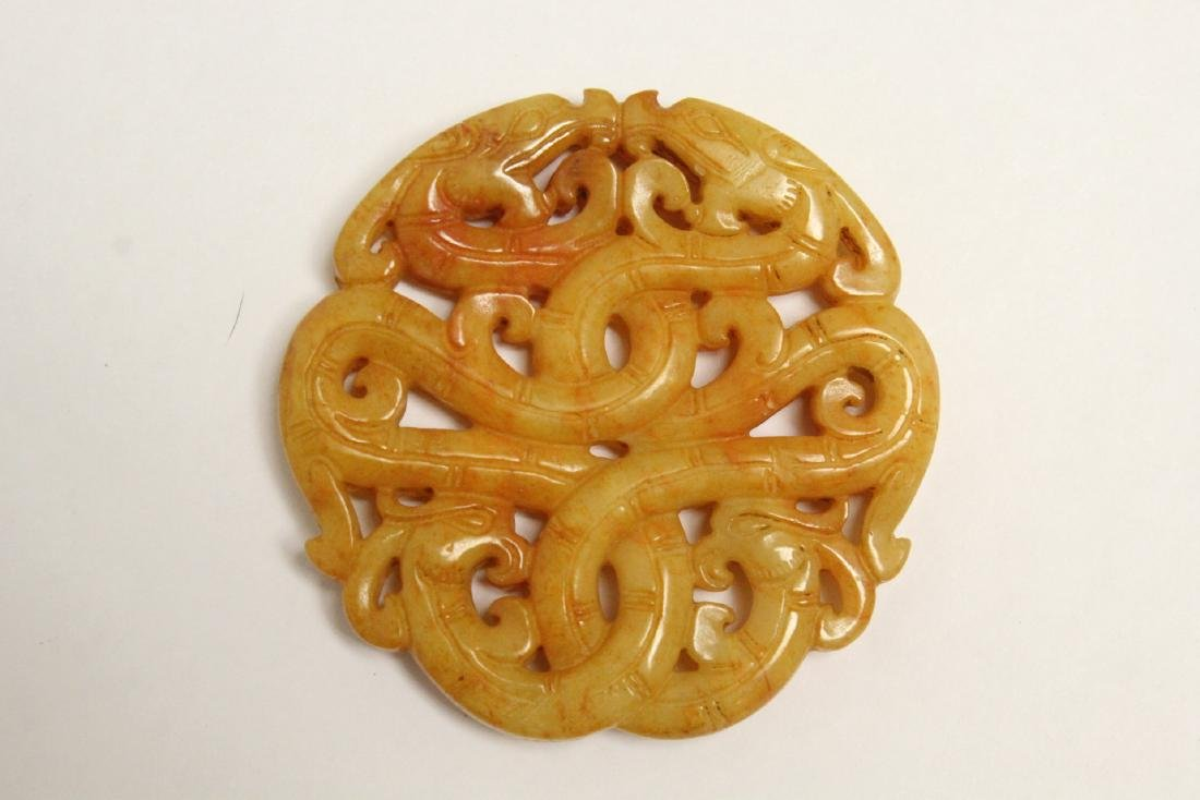 5 jade like stone carved ornaments - 6