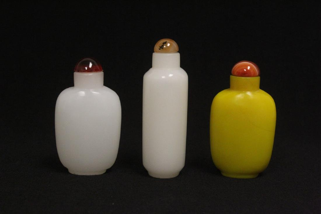 3 Peking glass snuff bottles