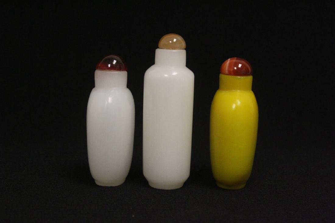 3 Peking glass snuff bottles - 2