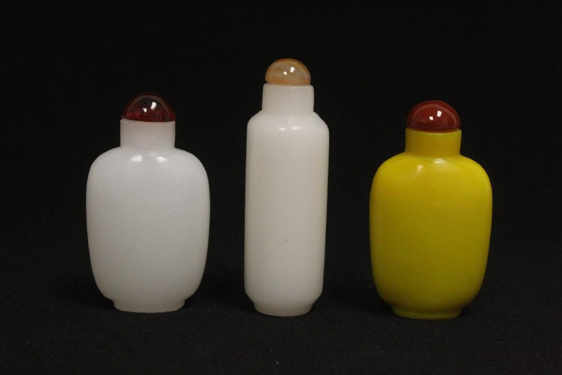 3 Peking glass snuff bottles - 3