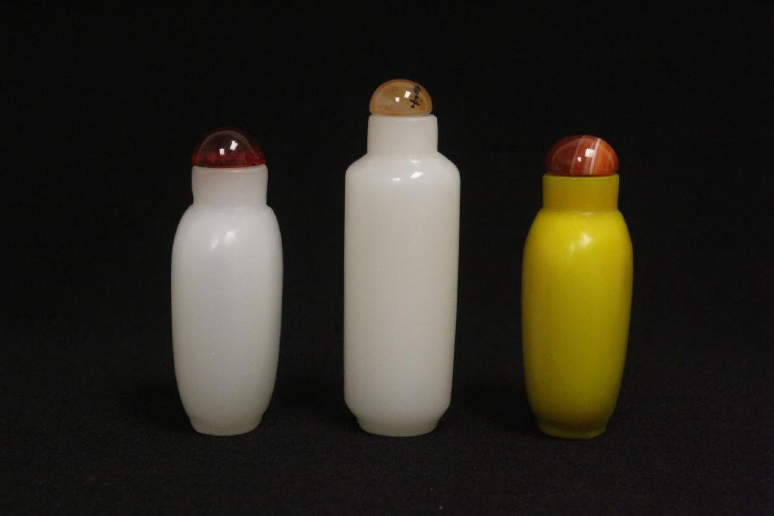 3 Peking glass snuff bottles - 4