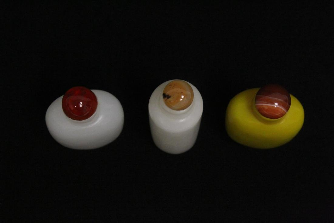 3 Peking glass snuff bottles - 5