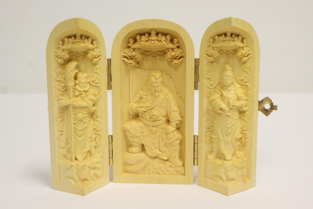 2 wood concealed box with deity inside - 7
