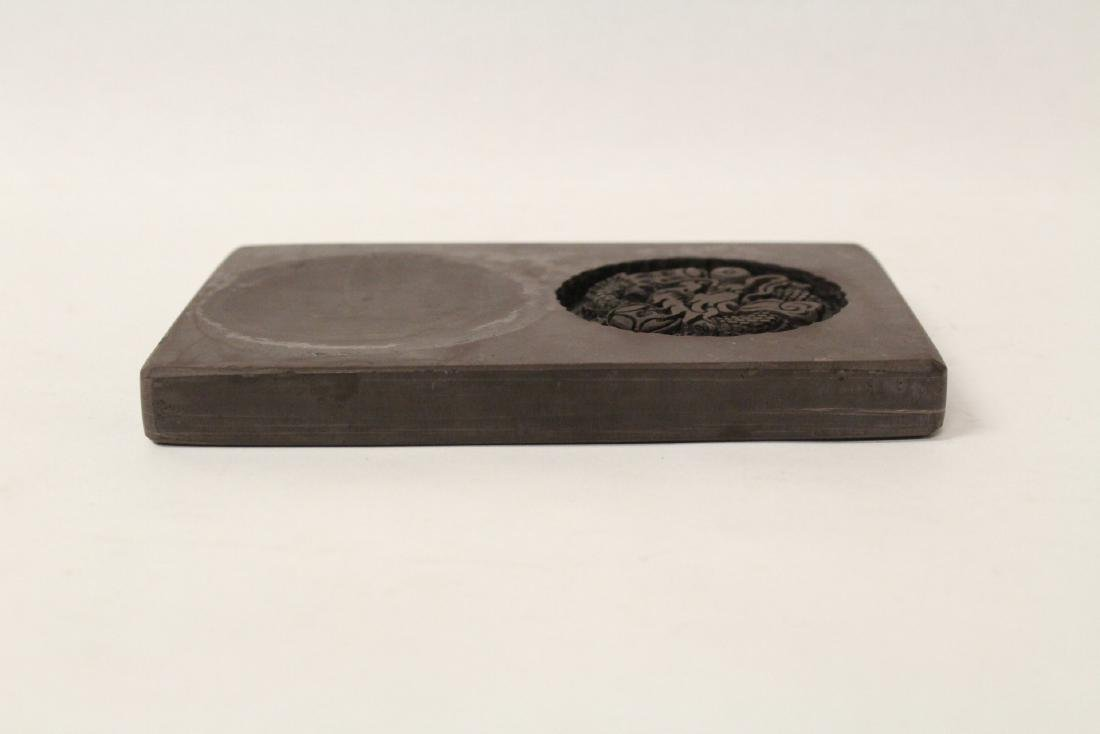 A carved ink stone - 5