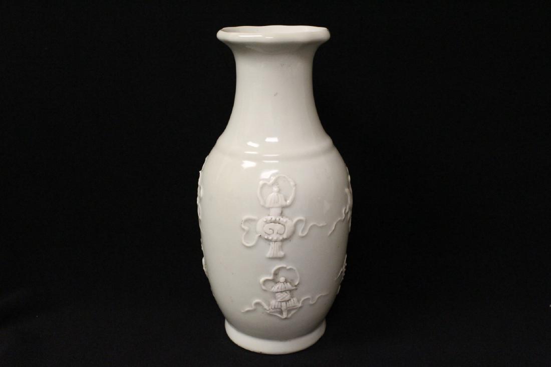 White on white porcelain vase - 4